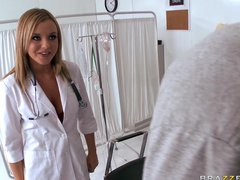 Preview 1 of Big Tit Blonde Nurse Bree Olson Makes Patients Donate Sperm In Her Ass