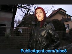 Preview 1 of Publicagent Bara Her Pussy Gets Wet Talking About Sex