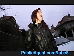 Preview 3 of Publicagent Bara Her Pussy Gets Wet Talking About Sex