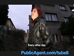 Preview 4 of Publicagent Bara Her Pussy Gets Wet Talking About Sex