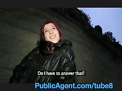 Preview 5 of Publicagent Bara Her Pussy Gets Wet Talking About Sex