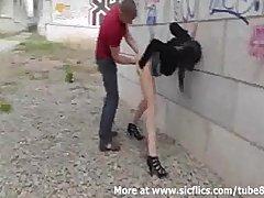 Preview 3 of Street Hooker Fist Fucked In Public
