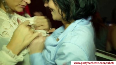 Real amateurs at slut party riding on cock