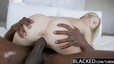 ebonyED Dakota James First Experience with Big ebony Cock