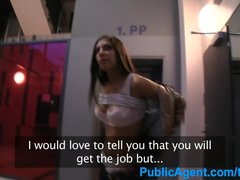 Preview 3 of Publicagent Hot Brunette Wife Fucking A Stranger In A Car Park