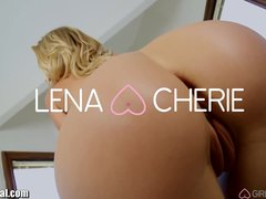 Preview 4 of Cherie Deville Gives Lena Her First Lesbian Anal