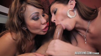 PornstarPlatinum - Ava Devine and Sarah Jay with son's friend