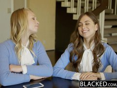 BLACKED Two Teen Girls Share a Huge BBC