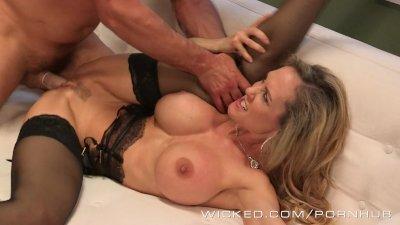 Wicked - Sexy milf Brandi Love takes a big load