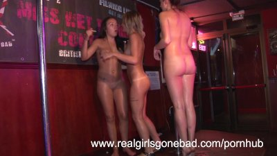 drunken teens stripping naked for a sexy wet tshirt contest