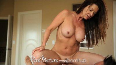 PureMature Big-tittied MILF fucks her man in secret