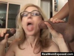 Preview 1 of Realmomexposed - Horny Milf Gets Double Penetrated