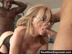 Preview 4 of Realmomexposed - Horny Milf Gets Double Penetrated
