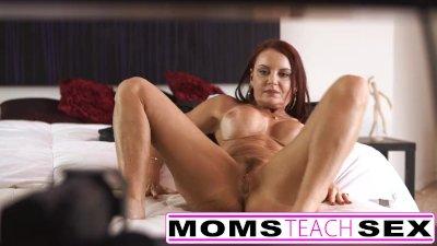 Step mom fucks son in hot thre
