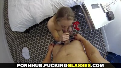 Fucking Glasses - Sexy-ass blonde spy-cam-fucked