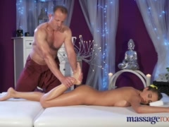 Preview 3 of Massage Rooms Brunette With Big Natural Tits Has Intense Orgasm