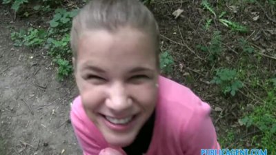 PublicAgent Innocent looking teen fucking in the woods