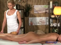 Preview 3 of Massage Rooms Young Big Tits Lesbian Enjoys Hot Blonde Teen Sex