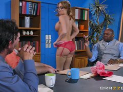 Preview 1 of Britney Amber Gets Gang Banged - Brazzers