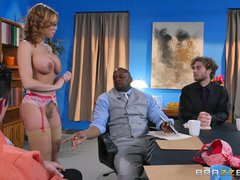 Preview 2 of Britney Amber Gets Gang Banged - Brazzers