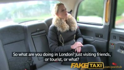 FakeTaxi Sexy Dutch minx tries anal in taxi