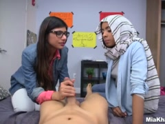 Preview 6 of Blowjob Lessons With Mia Khalifa And Her Arab Friend (mk13818)