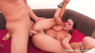 Busty Charley gets a hardcore pussy fucking