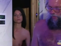 Preview 2 of Teen Sensual Cock Massage And Pussy Fuck With Big Dick Grandpa Super Hot
