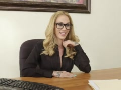 Preview 1 of Horny Milf Boss Sarah Exploits Her Employee For Sex