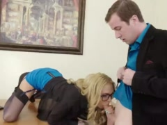 Preview 3 of Horny Milf Boss Sarah Exploits Her Employee For Sex
