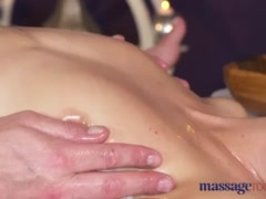 Preview 8 of Massage Rooms Hot Brunette Rims Stud Before She Has Squirting Orgasm