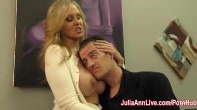 Julia Ann Milks Stepson before his Date!