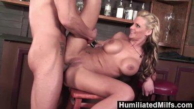 HumiliatedMilfs - Blonde milf loves to get her ass full of cum