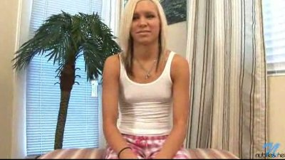 Kacey is a petite blonde with tiny tits who loves  a hard pussy fucking and toying.