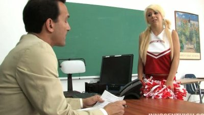 Cute cheerleader Tessa sucking and fucking her professors cock