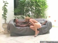 Horny blonde chick gets anal pressing