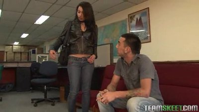 lovely latina chica rammed in the office
