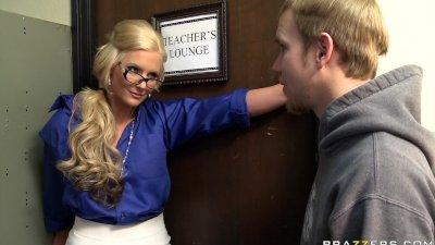 Movie:Big tit blonde teacher fucks h...