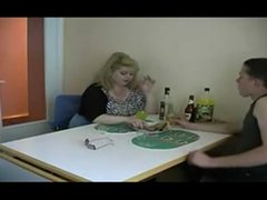 BBW drunk mature and young guy
