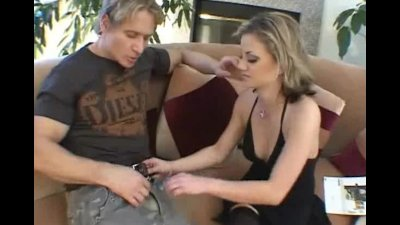 Blonde get ass and mouth filled with cock