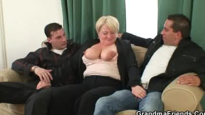 Two dudes bang her