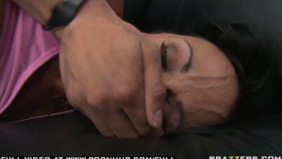 BIG TIT BRUNETTE MILF PORNSTAR  ROUGHED UP BY HER SPORT MANAGER