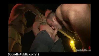 Gays grope and suck bound guy outdoor in Helios Resort