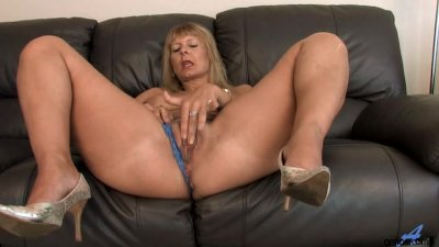 Busty Mature Fingering Her Hai