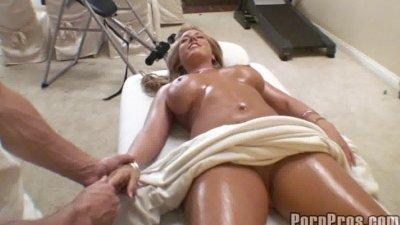 Busty Blonde Tit Massage