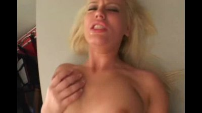 Blond girl takes black cock up her wet pussy