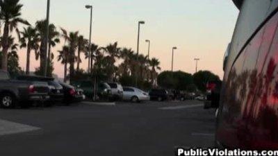 Naked guy violates girl in parking lot