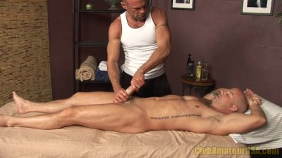 Buff hunk gets rubbed and tugged