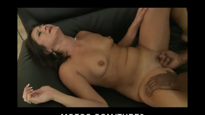 NATURAL TIT BRUNETTE MILF DEEP THROATS BIG BLACK COCK FOR MONEY