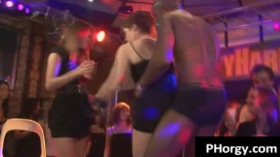 Drunk babes go wild looking for someone to fuck at wild party
